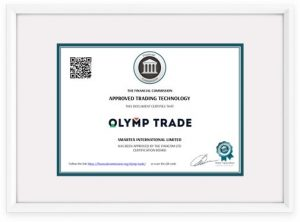 olymp trade diploma anti-fraude