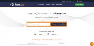 Vá para o site Binary.com para se registrar