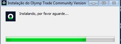 Processo de instalação do software Olymp Trade