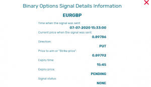 Binary Options Signal Details Information