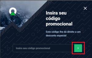 Insira seu código promocional