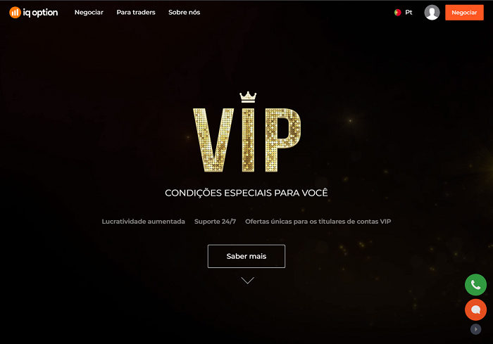 conta VIP na IQ Option