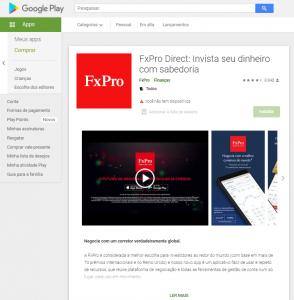 Aplicativo para dispositivos móveis fxpro