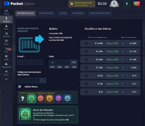 Bônus Pocket Option