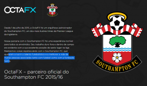 Patrocínio Southampton FC