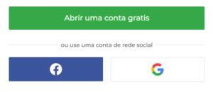 social de sua preferência (Facebook ou Google)